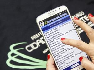 Aplicativo recebe reclamções da população (Foto: Daniel Marcus/Ascom Nova Friburgo)