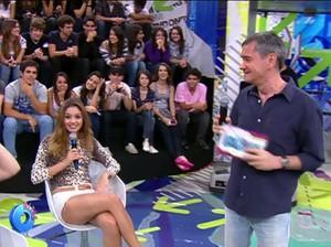 Sophie Charlotte em sua primeira participação no Altas Horas, em 2010 (Foto: TV Globo)