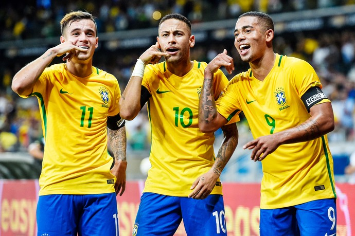 Coutinho, Neymar e Gabriel Jesus, Brasil (Foto: GettyImages)