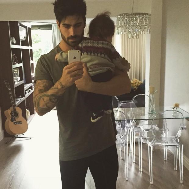 Rodrigão com o filho (Foto: Reprodução / Instagram)
