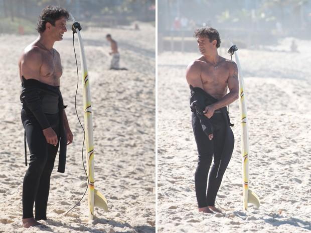 Marcos Pasquim também exibiu o físico em forma (Foto: Cheias de Charme/TV Globo)
