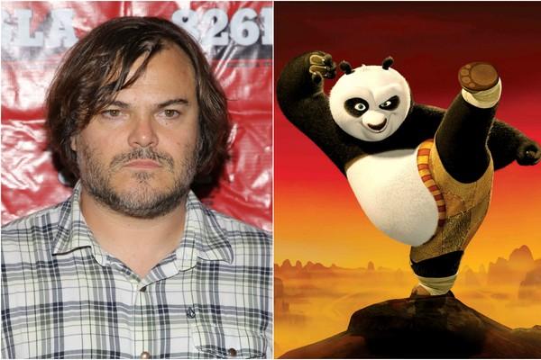 Vai dizer que não há nenhuma semelhança? O cômico Jack Black é a voz do mais famoso panda do cinema em 'Kung Fu Panda' (Foto: Getty Images e Divulgação)