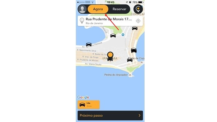 Pedir um motorista particular no Cabify em tempo real