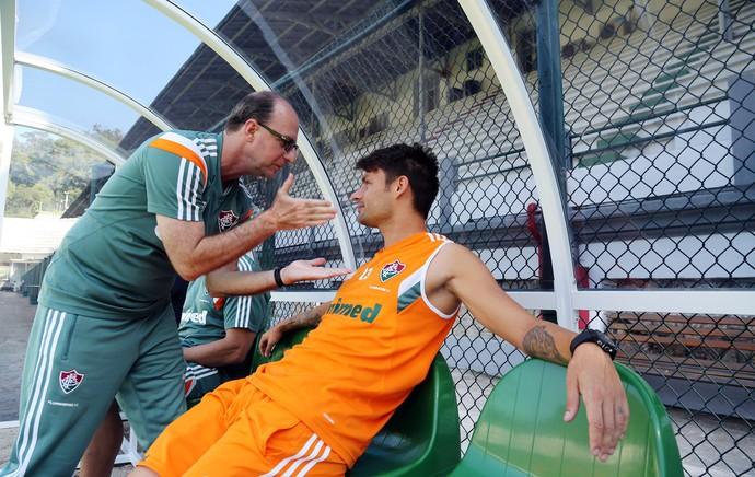 Rafael Sóbis banco reservas treino Fluminense (Foto: Nelson Perez/Fluminense )