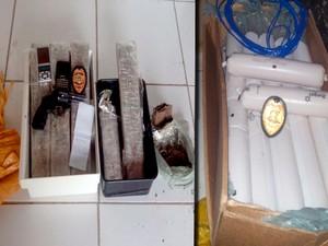 Polícia apreendeu explosivos armas e drogas em São Miguel dos Campos (Foto: Ascom/PC)