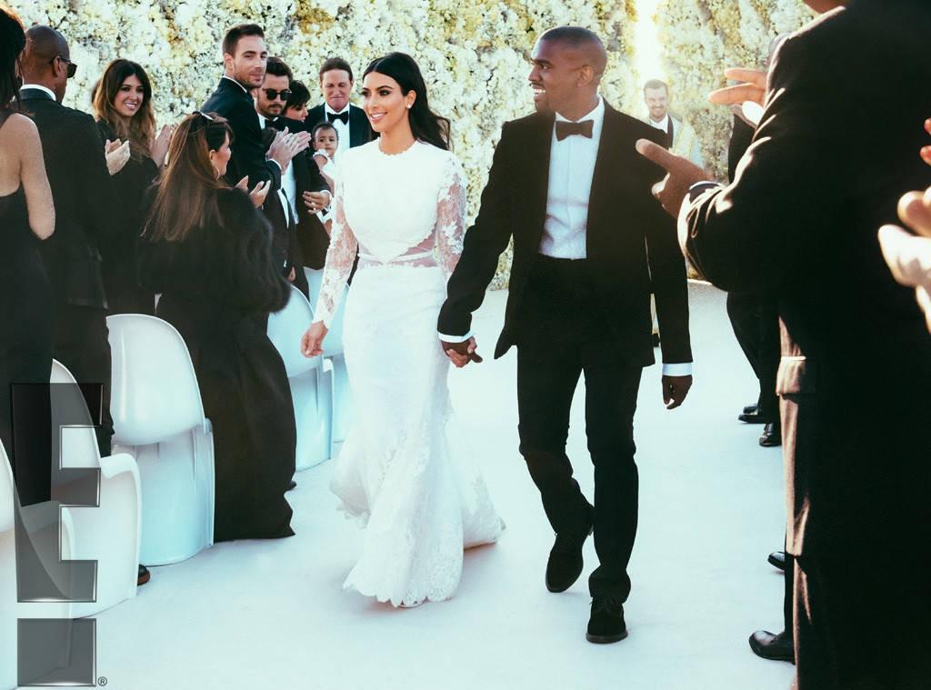 Kim Kardashian no casamento com Kanye West (Foto: Reprodução/Instagram)