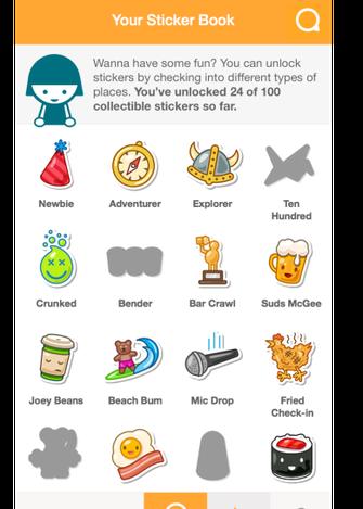 Badges estão de volta na forma de stickers (Foto: Reprodução/Foursquare) (Foto: Badges estão de volta na forma de stickers (Foto: Reprodução/Foursquare))