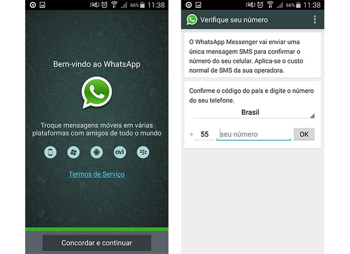 Instale o WhatsApp original e aguarde 24 horas para ter a conta liberada (Foto: Reprodução/Barbara Mannara)