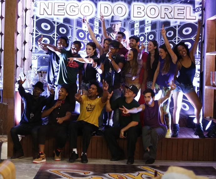 Dia de festa com Nego do Borel no 'Dança'! (Foto: Raphael Dias / Gshow)