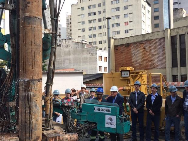 Alckmin anuncia retomada das obras da Linha 4-Amarela (Foto: Vivian Reis/G1)