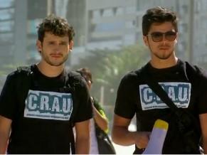 Malhação: campanha contra guimbas de cigarro nas praias cariocas (Foto: Reprodução de TV)