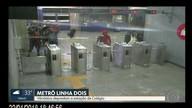 Vândalos depredam estação Colégio do Metrô