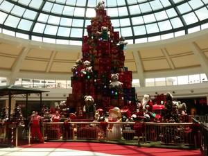 Decoração de natal do Shopping Iguatemi, em Campinas (SP) (Foto: Juliana Ferreira)