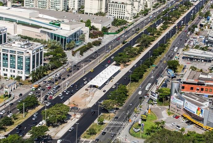 O corredor BRT Transoeste vai alimentar os deslocamentos até o Parque Olímpico (Foto: Prefeitura do Rio)