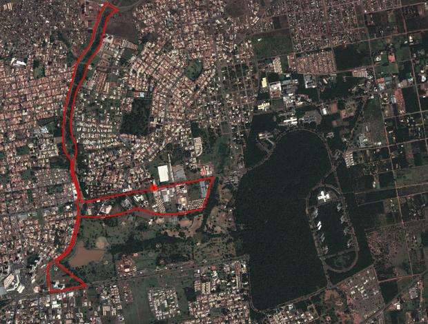 Percurso da corrida de 10 km da Volta das Nações 2013 (Foto: Reprodução)