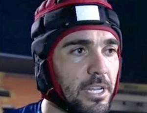 Andrey, goleiro do América-RN (Foto: Reprodução/Premiere)