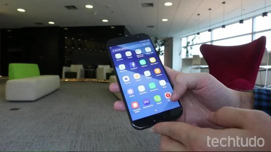 Como configurar o desbloqueio por digitais no Galaxy A5 2017