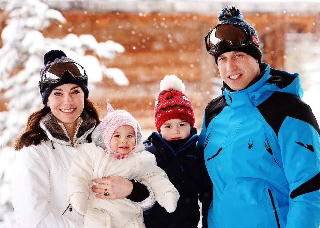 Kate Middleton, William, George e Charlotte (Foto: Getty Images)