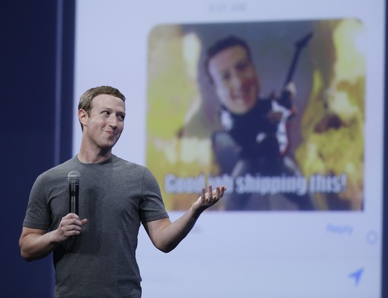 O CEO do Facebook, Mark Zuckerberg, durante conferência em San Francisco, nos Estados Unidos (Foto: Eric Risberg/AP)