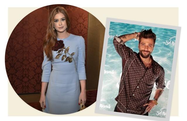 Marina Ruy Barbosa e Bruno Gagliasso (Foto: Arte Vogue Online)