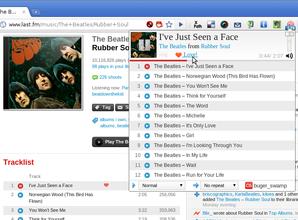 Interface Last.fm free music player