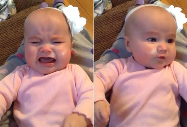 A pequena Rosie, de apenas 6 meses, que já demonstra ser fã da voz de Taylor Swift (Foto: Reprodução / YouTube)