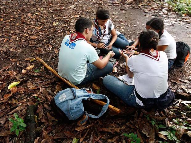 Escoteiros participam de acampamento nacional em Parnamirim (Foto: Canindé Soares/G1)