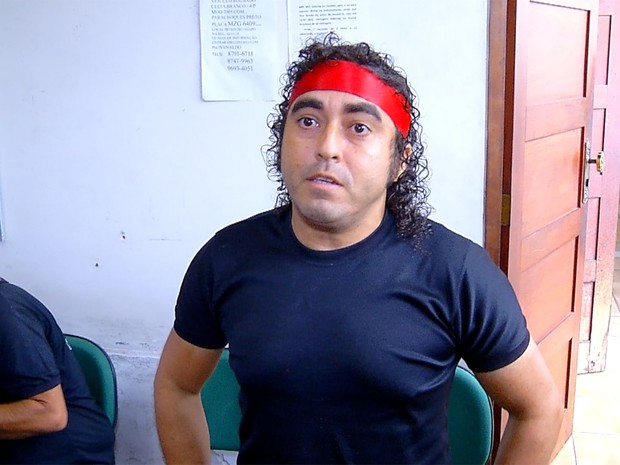 'Rambo' é preso por receptação em Natal, RN (Foto: Reprodução/Inter TV Cabugi)