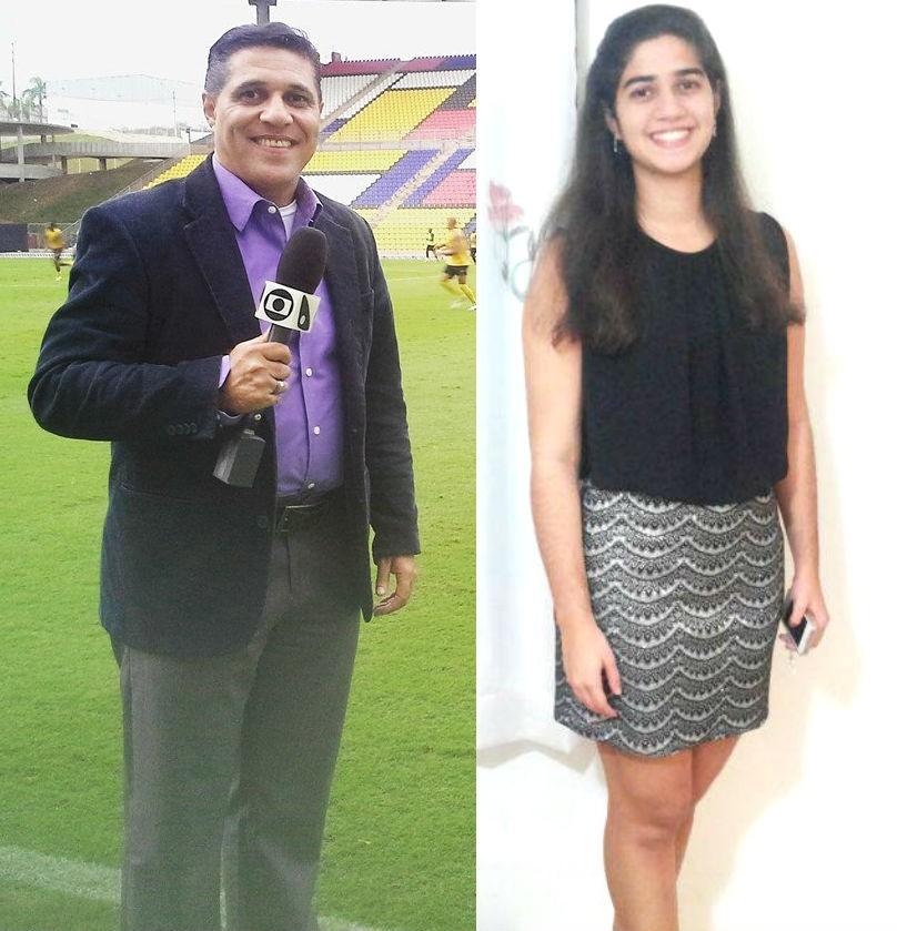 Jorge Feliz e a filha (Foto: Arquivo Pessoal)