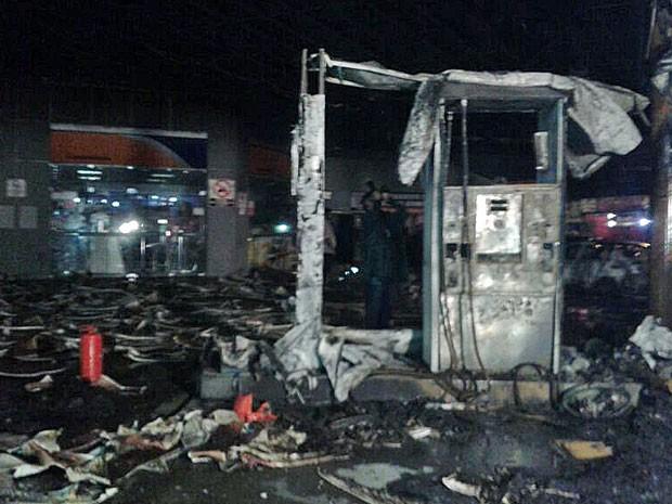 Bombas para abastecimento foram danificadas (Foto: Luna Markman / G1)