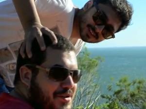 Mario e Rauany viajaram juntos de Campinas para o Guarujá (Foto: Reprodução/ EPTV)