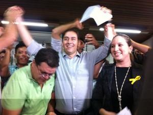 Prefeito Alcides Bernal reassume prefeitura de Campo Grande (Foto: Gabriela Pavão/ G1 MS)