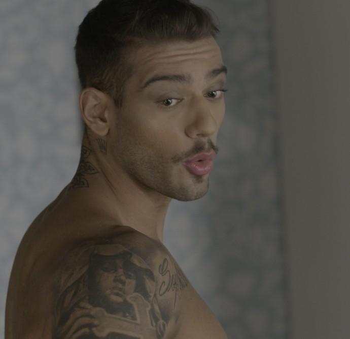 Uood fica fofo até maquiado, né? Rs (Foto: TV Globo)
