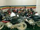 No Norte de MG, cinco armas e 26 motos são apreendidas em operação