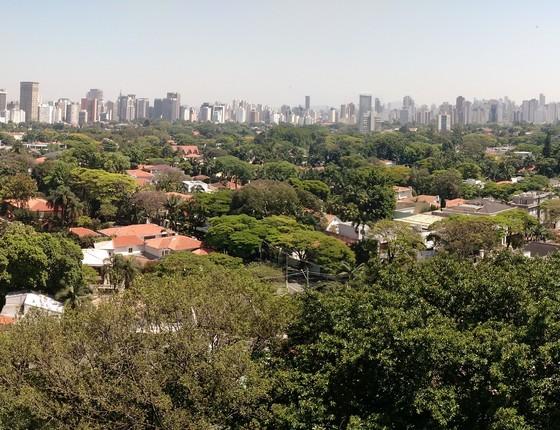 Vista do arborizado bairro dos Jardins, em São Paulo. Se toda cidade fosse assim... (Foto: Alexandre Mansur)
