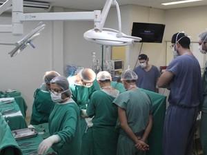 Transplante foi feito durante a madrugada (Foto: Divulgação/Hospital de Base)