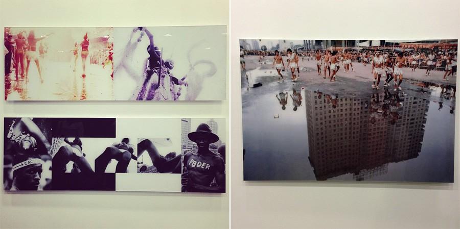Alguns trabalhos de Carlos Vergara no 11bis (Foto: Isabel Junqueira)