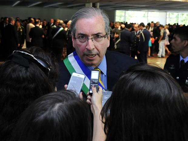 Cunha participou de cerimômia no Clube da Aeronáutica de Brasília, onde recebeu Medalha da Ordem do Mérito da Defesa  (Foto:  Alex Ferreira/Câmara dos Deputados)