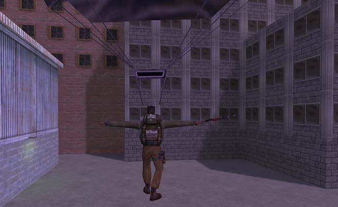 Use E para ativar o paraquedas no ar (Foto: Reprodução/Murilo Molina)