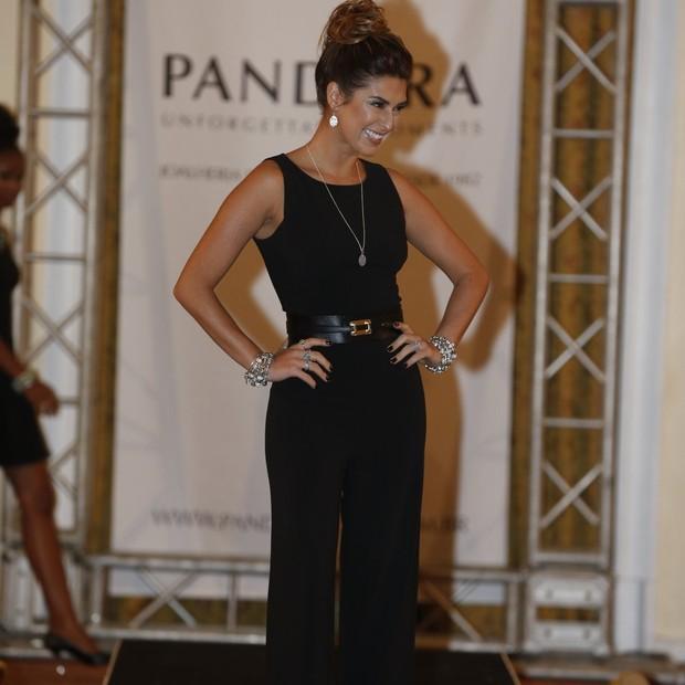 Fernanda Paes Leme usou peças em ouro branco avaliadas em R$ 150 mil  (Foto: Divulgação)