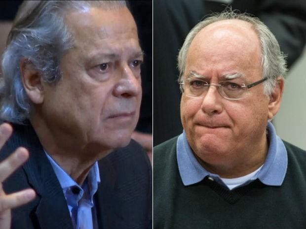 Dirceu e Duque já foram condenados em outros processos da Lava Jato (Foto: Reprodução/TV Globo e Marcelo Camargo/Agência Brasil)