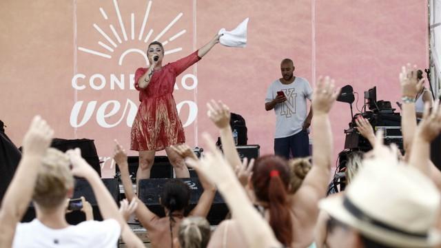 D'Lara cantou sucessos na Arena do Conexão Verão  (Foto: Green Multimídia/ Divulgação)