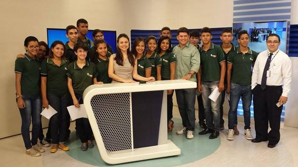 Apresentadora do Bom Dia Piauí, Marcella Priscilla também recepciona os aprendizes (Foto: Rede Clube)