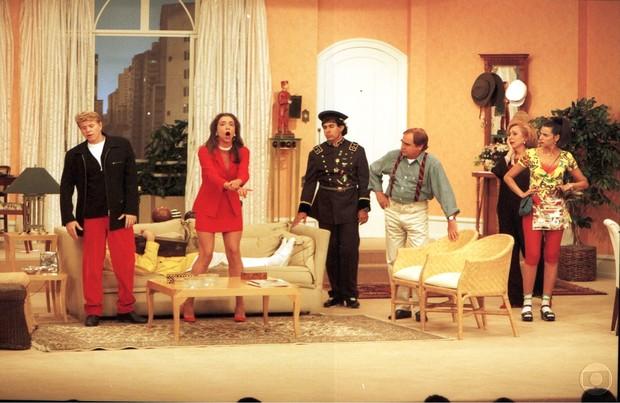Ilana Kaplan em um dos poucos episódios de Sai de Baixo que participou (Foto: CEDOC)