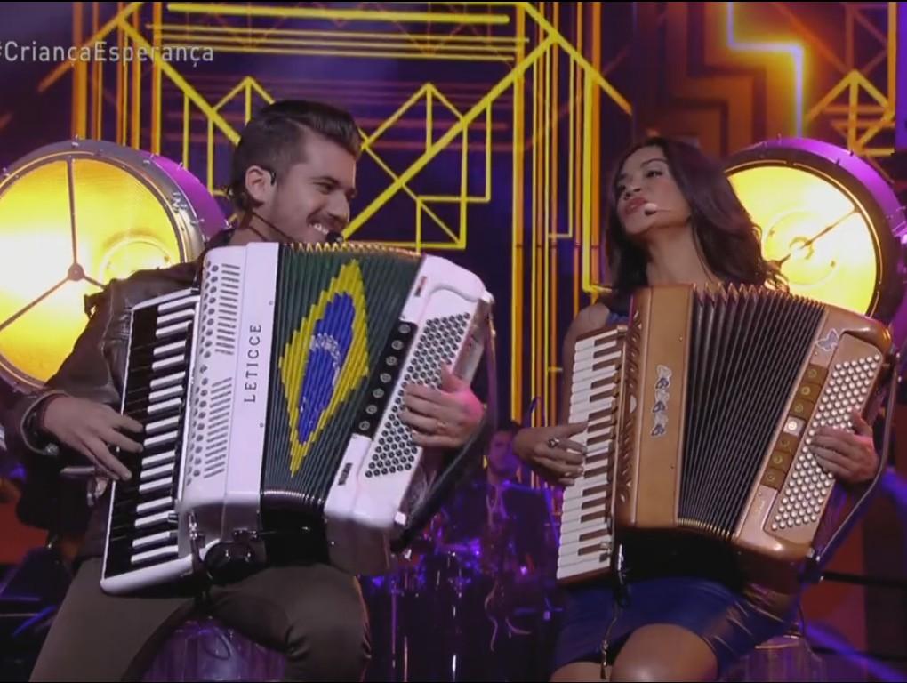 Dupla de paraibanos representou o Nordeste no Criança Esperança (Foto: Reprodução/TV Globo)