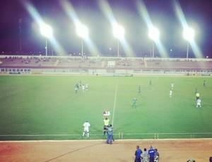 Palmeira-RN x Baraúnas no Estádio Nazarenão, em Goianinha (Foto: Antonio Netto/Inter TV Cabugi)