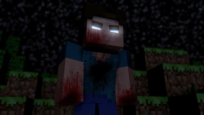 Herobrine, o fantasma de Minecraft (Foto: Reprodução/YouTube)