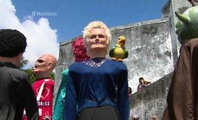 Ana Maria Braga e Louro José viram boneco no Carnaval de Olinda
