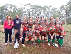 Uberlândia rugby feminino  (Foto: Carla Gabriela / Arquivo pessoal )