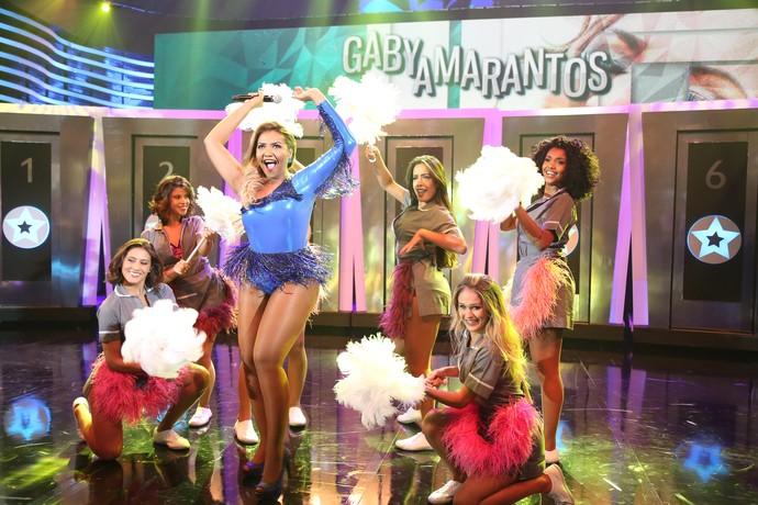 Gaby Amarantos divando no 'Ding Dong' (Foto: Carol Caminha/Gshow)